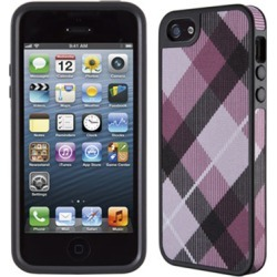 Speck FabShell Case for iPhone 5 (MegaPlaid Mulberry/Black)