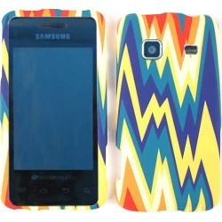 Unlimited Cellular Snap-On Case for Samsung Galaxy Prevail M820 (Colorful Zigzag Shape) found on Bargain Bro India from Unlimited Cellular for $5.99