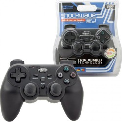 KMD - 2.4GHz Shock Wave Wireless Controller for PS2 - Black