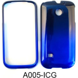 Cell Armor Snap-On Cover for Huawei Ascend 2 - Two Tones, Black and Blue