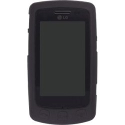 Silicone Gel Case for LG Bliss UX700 LG700 , Black