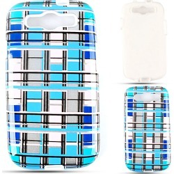 Cell Armor Hybrid Fit-On Jelly Case for Samsung Galaxy S3 (Transparent Blue/White Blocks) found on Bargain Bro India from Unlimited Cellular for $6.99