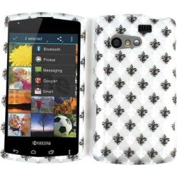 Unlimited Cellular Smooth Finish Cover Faceplate for Kyocera C5155/Rise (Trans.Design, Black &White Saints Logo On Gray)