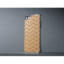 CARVED - Chevron Engraved Maple Clear Case for iPhone 5/5S