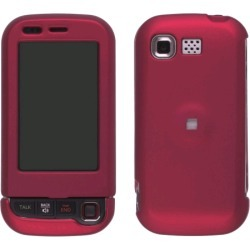 LG AX840, UX840 Rubberized  Snap On Case - Dark Red