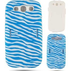 Cell Armor Hybrid Fit-On Jelly Case for Samsung Galaxy S3 (Blue Zebra on White) found on Bargain Bro India from Unlimited Cellular for $6.99