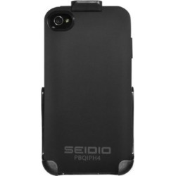 Seidio BD2-HQIPH4-BK SURFACE Plus Case and Holster Combo for Apple iPhone 4/4S - Black