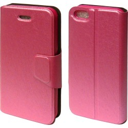 Unlimited Cellular Hybrid Novelty Diary Case for Apple iPhone 5 / 5S (Hot Pink Diary Case)