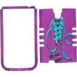 Unlimited Cellular Rocker Snap-On Case for Samsung Galaxy S4 (Blue Shoelace with Purple Shoe) found on Bargain Bro India from Unlimited Cellular for $5.99
