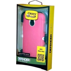 OtterBox Defender Case for HTC One Mini - White/Pink