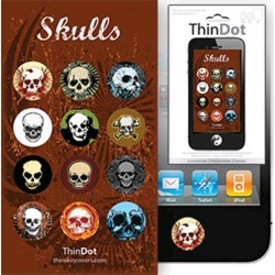 True Power ThinDot Home Button Decals for Apple Devices - Skulls