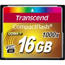 Transcend 16GB Compact Flash Card, UDMA7 1000x High-speed Memory Card - TS16GCF1000 found on Bargain Bro Philippines from Unlimited Cellular for $101.39