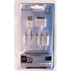 Skiva MediaFlow Component AV Cable for iPad 2, iPhone 4/4S, iPod