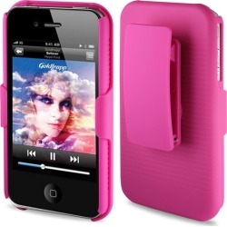 Reiko - Holster Combos for Apple iPhone 4S - Hot Pink