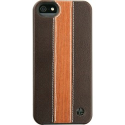 Trexta Wood and Leather Series Snap-On Case for Apple iPhone 5/5S - Cherry Wood/Brow found on Bargain Bro Philippines from Unlimited Cellular for $34.95