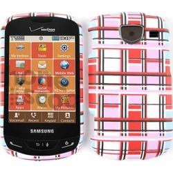 Unlimited Cellular Snap-On Case for Samsung Brightside U380 (Red/Pink/White Blocks) found on Bargain Bro India from Unlimited Cellular for $5.99