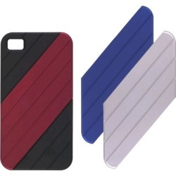 Ventev VersaDUO Snap-On Case for iPhone 4 (Black with Blue/Red/Silver Inlay) found on Bargain Bro India from Unlimited Cellular for $5.99