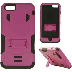 Cell Armor - Novelty Protector Case with Stand for Apple iPhone 6 Plus - Purple and Black