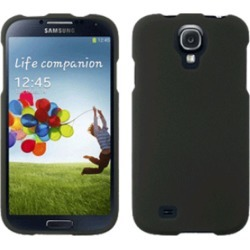 Samsung Rubberized Snap-On Cover for Samsung Galaxy S4 (Black)