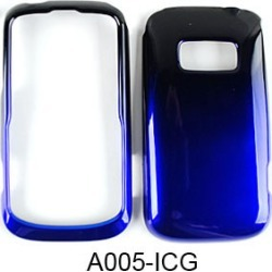 Cell Armor Snap-On Cover for Kyocera Brio (Two Tones, Black and Blue)