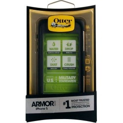 OtterBox Armor Series Waterproof Case for Apple iPhone 5 - Black/Neon  Green