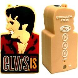 Orange 1GB Music Player, Elvis Face and Text