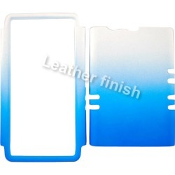 Unlimited Cellular Rocker Series Snap On Cover for Motorola XT913/Razr Maxx (Leather Finish Two Tone White and Blue)