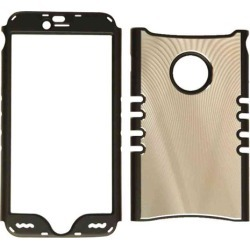 Rocker Series Snap-On Protector Case for Apple iPhone 6 Plus (Metal Case/Gold with Black Border)