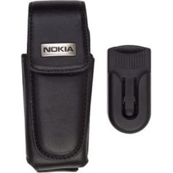 Nokia Leather Vertical Carrying Case CTU-123 with Swivel Belt Clip for 1100 / 3100 / 3105 (Black) found on MODAPINS from Unlimited Cellular for USD $5.99