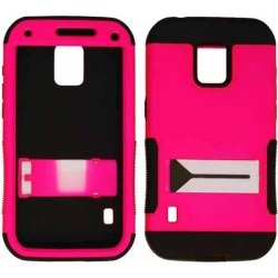 Hopper Protector Case for Samsung Galaxy S5 Active (Black Skin and Fluorescent Dark Hot Pink Snap with Stand) found on Bargain Bro India from Unlimited Cellular for $7.09