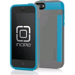Incipio Stowaway Credit Card Case for Apple iPhone 5/5s (Charcoal Gray/Navy Blue)