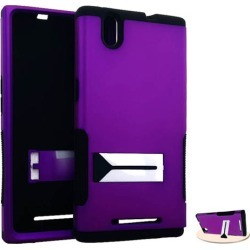 HopperCase. Rubberized Dark Purple Snap&Black Skin
