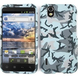 Unlimited Cellular Snap-On Cover Case Faceplate for LG LS855 Marquee (Random Shapes on Light Blue)