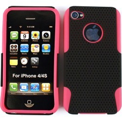 Unlimited Cellular Novelty Case for Apple iPhone 4/4S (Pink Skin with Black Snap)