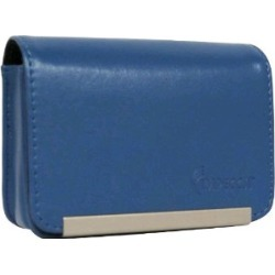 Impecca DCS86 Compact Leather Digital Camera Case - (Blue) - DCS86B