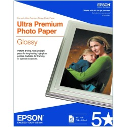 Epson Ultra Premium Photo Paper, 25 Sheets (S042182) found on Bargain Bro India from Unlimited Cellular for $24.59
