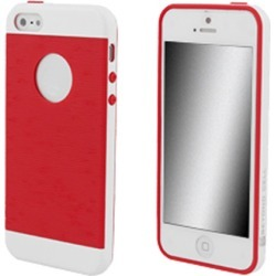 Beyond Cell Inflex TPU Silicone Case for Apple 5 / 5S (White/Red)