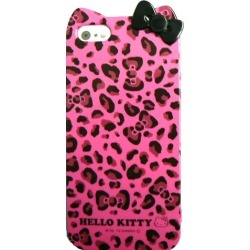 Unlimited Cellular Hello Kitty TPU Soft Case for Apple iPhone 5 - Pink Leopard