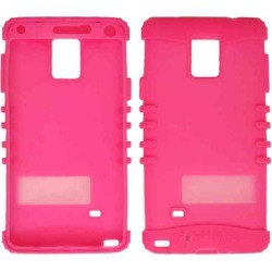 Cell Armor - Rocker Series Skin Protector Case for Samsung Galaxy Note 4 - Fluorescent Magenta found on Bargain Bro India from Unlimited Cellular for $5.99