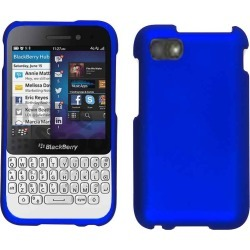 Cell Armor Snap-On Case for Blackberry Q5 - Rubberized Honey Blue