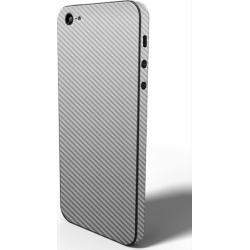 Slickwraps - Carbon Fiber Series Protective Film for iPhone 5 - Silver