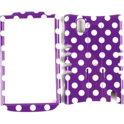 Unlimited Cellular Rocker Snap-On Case for LG Nexus 4 E960 (White Dots on Purple) found on Bargain Bro from Unlimited Cellular for USD $4.55