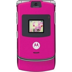 Motorola V3 Razr Cell Phone Bluetooth, Camera and GSM World Unlocked (Pink) - V3g-Pink-Unlocked-RB
