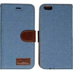 Wallet Diary Case, Blue Leather