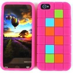 Unlimited Cellular Novelty Skin Case for Apple iPhone 5/5S (Magenta with Colorful Squares) found on Bargain Bro from Unlimited Cellular for USD $4.70