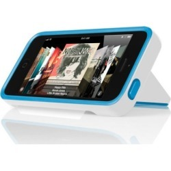 Incipio Stowaway for Apple iPhone 5/5S - Optical White / Cyan Blue