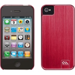 Case-Mate Barely There Brushed Aluminum Case for iPhone 4S / 4 (Red)
