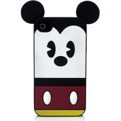 PDP Disney Mickey Suit Silicone Case for Apple iPhone 4 / 4S (Black/Red/White)