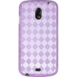 Ventev Argyle Dura Gel Skin Case for Samsung Galaxy Nexus SPH-L700 - Translucent Purple found on Bargain Bro India from Unlimited Cellular for $8.09