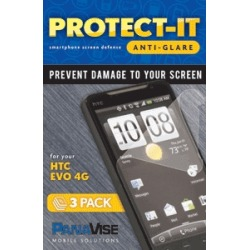PanaVise Protect-It Anti-Glare Screen Protector (3 Pack) for HTC EVO 4G